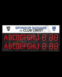 GAA Electronic Scoreboard FG-10 (10 digital letters per team name)