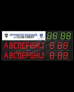 GAA Electronic Scoreboard FG-10 With Clock (10 digital letters per team name)