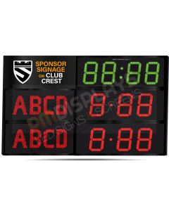 GAA Electronic Scoreboard FG-4 With Clock (4 digital letters per team name)
