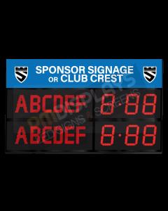 GAA Electronic Scoreboard FG-6 (6 digital letters per team name)