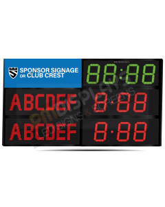 GAA Electronic Scoreboard FG-6 With Clock (6 digital letters per team name)