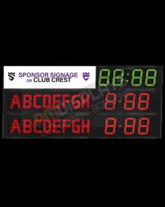 GAA Electronic Scoreboard FG-8 With Clock (8 digital letters per team name)
